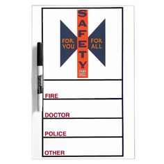 Vintage Safety For You Dry-Erase Whiteboards from Zazzle.com- $24.95 -Add this to your to-do list: Get a great custom dry-erase board from Zazzle! Vibrantly printed using the AcryliPrint®HD process, you can customize this dry-erase board with any photos, artwork, or text to create a board as unique as you.
