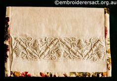Casalguidi pouch stitched by Robyn Duncan ~ Embroiderers Guild ACT