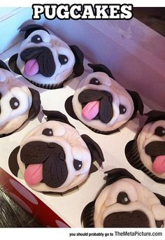 Awesome Pug Cupcakes