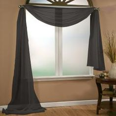 @Overstock.com - Infinity Sheer Window Scarf Valance - Create a view draped in elegance with this sheer scarf valance, a full-length and fashionable window treatment. Made from 100 percent polyester in your choice of colors, this light and airy curtain gracefully appoints a living or dining room. http://www.overstock.com/Home-Garden/Infinity-Sheer-Window-Scarf-Valance/6990320/product.html?CID=214117 $20.99