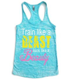 Hey, I found this really awesome Etsy listing at https://www.etsy.com/listing/163662623/exercise-tank-top-look-like-a-beauty