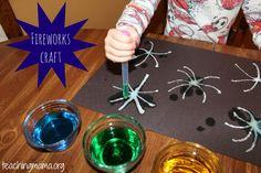 Easy fireworks craft using salt  (Plus a GIVEAWAY!)