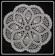 Petite Pineapple Doily - Crochet