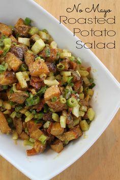 No Mayo Roasted Potato Salad with Bacon