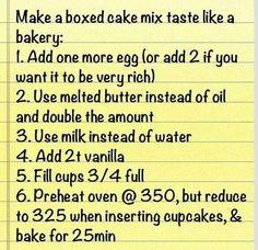 Make box cake taste like home made.