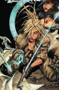Harper Temple - Madame Mirage - drawn by Kenneth Rocafort Comic Book Characters, Comic Character, Comic Books Art, Book Art, Top Cow, Warrior Girl, Image Comics, Comics Girls, Comic Artist