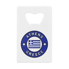 Athens Greece Credit Card Bottle Opener - cyo customize gift idea