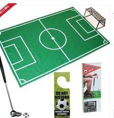 Novelty Bathroom Toilet Mini Football Goal Net Kit Trainer Funny Game Gift Toy