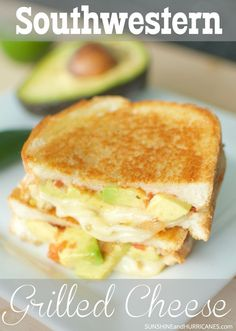 Do you love grilled cheese sandwiches. How about Mexican and Southwestern food? Well, we've got the PERFECT recipe for you. This new twist on a traditional favorite is full of flavor. Delicious, cheesy and with just a little kick is grilled cheese Mexican Food Recipes, Vegetarian Recipes, Dinner Recipes, Cooking Recipes, Dessert Recipes, Desserts, Dessert Food, Cooking Ideas, Fast Dinners
