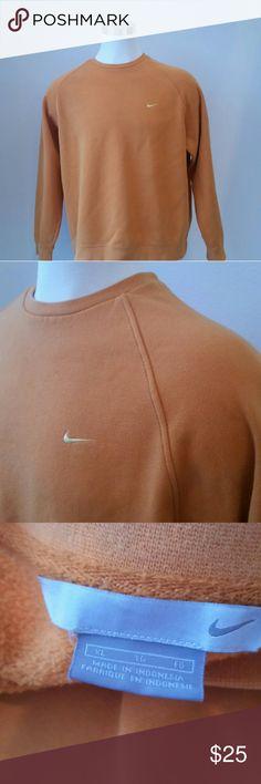 MEN'S NIKE SWEATSHIRT, SZ XL MEN'S NIKE SWEATSHIRT, ORANGE WITH YELLOW SWOOSH, SZ XL Nike Shirts Sweatshirts & Hoodies