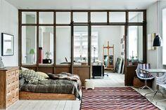 Copenhague / Chambre avec verrière / Encontrado en atelierrueverte.blogspot.com.es