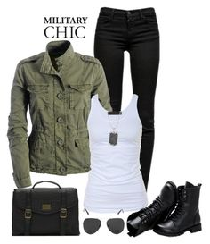 """""""military chic"""" by gallant81 ❤ liked on Polyvore featuring J Brand, Tusnelda Bloch, Vans, Stella Valle, Sunsteps, women's clothing, women, female, woman and misses"""