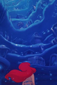 """mickeyandcompany: """"The Little Mermaid iPhone backgrounds. Feel free to use it. """""""