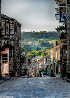 :Early morning in Haworth, Yorkshire, England by oxfordwight home of the Bronte sisters Yorkshire England, Yorkshire Dales, West Yorkshire, Cornwall England, England Ireland, England And Scotland, England Uk, Oxford England, London England