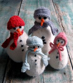 Colorful Crafting with Jen: SnoBuddy Family from Knitting atKNoon - Knitting Crochet Sewing Crafts Patterns and Ideas! - the purl bee