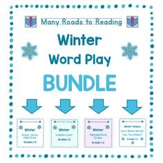 Kids always enjoy some fun, but it's great when the fun is educational, too!  This is a bundled set of four winter word activities. Please visit the individual pages to see them on sale individually.  Winter Nouns, Verbs, Adjectives: Grades 1-2 Winter Syllable Count: Grades 1-2 Winter Alphabetical Order: Grades 1-2 Winter Season: How Many Words Can You Make?
