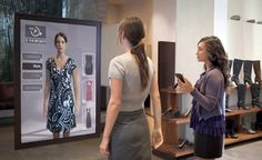 Interactive mirror with multiple options