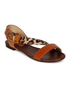 Breckelles CD45 Women Mix Media Multicolor Slant Strap Open Toe Sandal  Leopard Size 70 *** Read more reviews of the product by visiting the link on the image.
