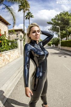 "k-piglet-latex: "" Hola! From Mallorca with love! Rubber girl Katerina Piglet Follow Me: FACEBOOK INSTAGRAM YOUTUBE DEVIANTART Latex catsuit by www.rubear.ru‪ """