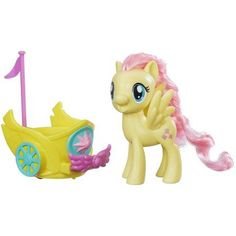 My Little Pony Fluttershy Royal Spin-Along Chariot, Multicolor