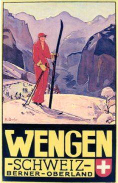 Wengen klara Cecile Borter 1932