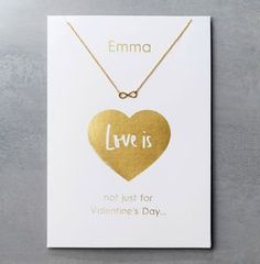 Personalised Valentine's Day Card And Necklace Set - Find unique, thoughtful gifts this Valentine's Day.