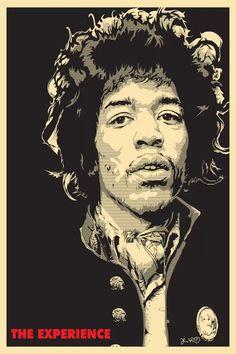 Rock Posters, Concert Posters, Art Pop, Canvas Wall Art, Canvas Prints, Art Prints, Jimi Hendrix Poster, Jimi Hendrix Experience, Pop Culture Art