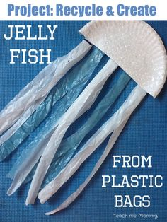 Jelly Fish Recycle Craft Cute recycle craft for Ocean preschool