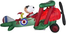 5.5' Airblown Snoopy Flying Ace in Plane Peanuts Christmas Inflatable