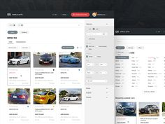 Cars for sale in UAE. Behance project