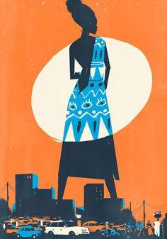Illustration for Granta Magazine's Going Back issue by Pietari Posti