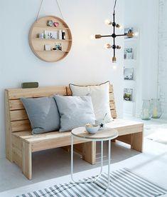 Rustikale Holzbank, Sitzbank Küche, Car Möbel, Möbel Aus Paletten, Küche  Esszimmer,
