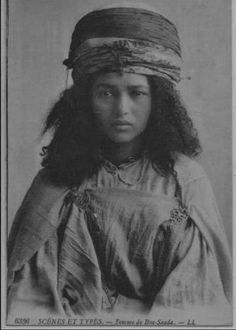 Young woman from Bou Saada, Algeria (undated) - (delcampe.net)