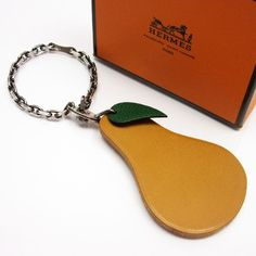 Hermès - Leather Bag Charm Fruit - key chain - with box Hermes, Chinese New Year, Leather Design, Leather Accessories, Fruit, Avon, Marc Jacobs, Leather Bag, Personalized Items