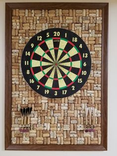 Nothing like a cork dart board with a cork backing