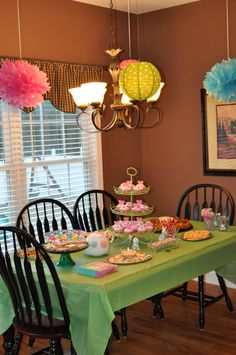 Tea party birthday spread I Party, Party Time, Party Ideas, Gift Ideas, 3rd Birthday Parties, Girl Birthday, Birthday Ideas, Party Spread, Kid Birthdays