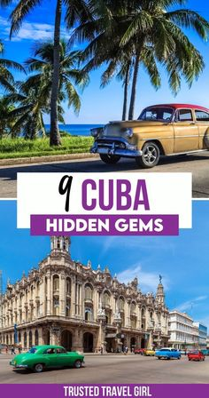 9 Cuba Hidden Gems. During the extent of a fifty-four-year embargo, Cuba has remained a mystery to the American public, yet with the recent move to re-establish relations with the US, curiosity seekers can now see what the country really has to offer. Here's the 9 Cuba Hidden gems that tourists don't know about. Cuba Travel Guide | Havana Cuba Travel | Cuba Travel Tips | Things to do in Cuba Travel | Cuba Travel, Travel Abroad, Latin America, South America, Cuba Itinerary, Visit Cuba, Cruise Destinations, Caribbean Vacations, Havana Cuba