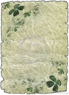 Vintage grunge textured parchment scroll with four leafed clover, antique background texture of a paper page. Templates illustration by Artida. Borders For Paper, Borders And Frames, Art Pictures, Art Images, Origami, Artist Portfolio, Vintage Grunge, Stock Art, Wallpaper