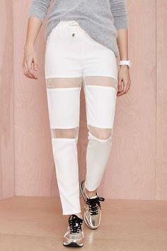 Aperture Track Pant - White