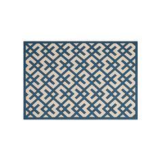 Safavieh Courtyard Geometric Indoor Outdoor Rug, Blue #OutdoorRugs