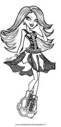 elephant monster high coloring pages - photo#25