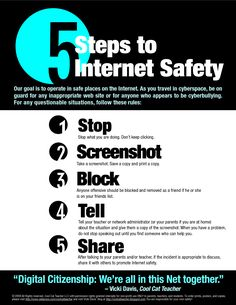 5 Steps to Internet Safety                                                                                                                                                                                 More