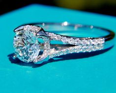 CUSTOM Made Diamond Engagement Ring Semi Mount by BeautifulPetra, $1500.00- this ring setting is absolutely amazing. Breathtaking. With a 1 CT diamond this would be the ring I took to my grave.