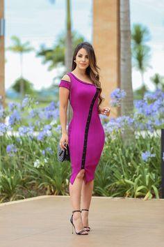 387007c2f7ab Olha só que ARRASO esse vestido com caimento perfeito! Vestido em Malha  Canelada detalhe viés. Coimbra's Fashion Moda Evangélica ...