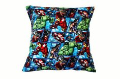 Marvel Avengers Cushion Cover by BlossomvioletCrafts on Etsy