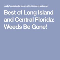 Best of Long Island and Central Florida: Weeds Be Gone!