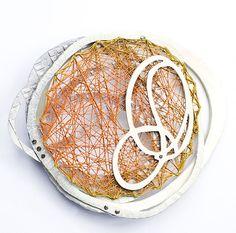 "Laritza Garcia   Tangerine Cream  2011  Copper, Powder Coat, Sterling Silver  3 ¼"" x 3 ¼"" x 1 ¼"""