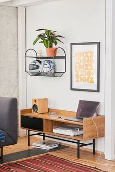 Check out Howell Low Media Console from Urban Outfitters Vinyl Storage, Wall Storage, Apartment Furniture, Home Decor Furniture, Uo Home, Foyer Decorating, Decorating Ideas, My Living Room, West Elm