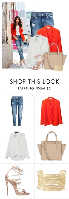 """Jeans & Autumn Orange"" by cassandra-cafone-wright ❤ liked on Polyvore featuring H&M, STELLA McCARTNEY, Salvatore Ferragamo, Dsquared2 and Charlotte Russe"