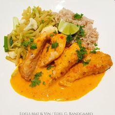 Edels Mat & Vin: Paprikabakt kylling med grønnsaker og fullkornsris... Wok, Thai Red Curry, Ethnic Recipes, Woks